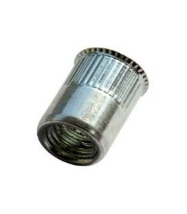 Заклепка M4*10 мм из стали с внутренней резьбой, уменьшенный бортик, с насечкой