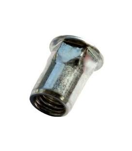 Заклепка M10*22 мм из стали с внутренней резьбой, цилиндрический бортик, полушестигранная