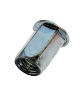 Заклепка M8*17,5 мм из стали с внутренней резьбой, цилиндрический бортик, шестигранная