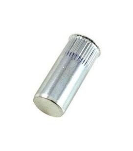 Заклепка резьбовая закрытая с маленьким бортиком и насечкой из нержавеющей стали M6*22,5 мм