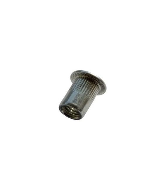 Заклепка M10*22 мм алюминиевая с внутренней резьбой, цилиндрический бортик, с насечкой