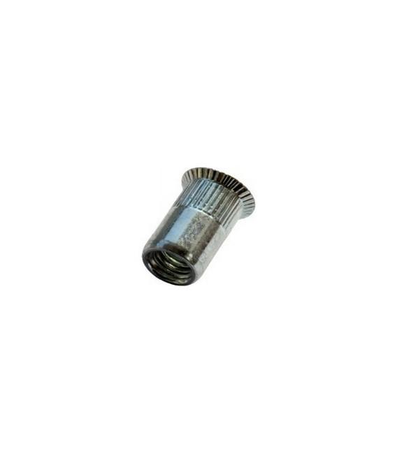 Заклепка M6*16 мм из стали с внутренней резьбой, потайной бортик, с насечкой